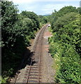 SO0662 : Heart of Wales railway line heads NE out of Llandrindod Wells by Jaggery