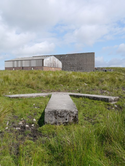 Braid Fell Bombing Range: Concrete Arrow & Target Wall