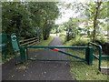 SO1603 : Cycle route 467 at the site of Holly Bush station, Hollybush by Jaggery