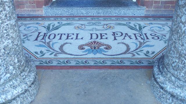 Mosaic floor, Hotel de Paris, Cromer © Julian Osley cc-by-sa