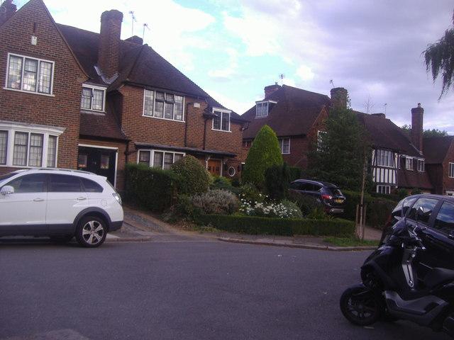 Houses on Blandford Close, Hampstead Garden Suburb