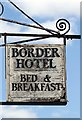 NT7233 : The Border Hotel sign, Kelso by Walter Baxter