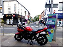 H4572 : Parked motorcycle, Omagh by Kenneth  Allen