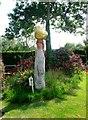 TQ5404 : Wooden sculpture, Wishing Well Tea Garden, Wilmington by nick macneill