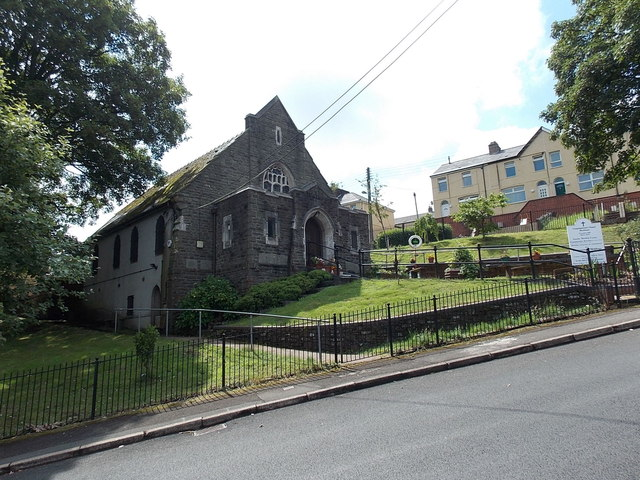 Corner view of the Congregational Chapel, Markham