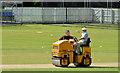 J2664 : Cricket pitch, Lisburn (2013) by Albert Bridge