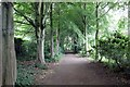 SD4615 : Path at Rufford Old Hall by Jeff Buck