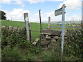 SE1643 : Footpath & Stile - Bingley Road by Betty Longbottom