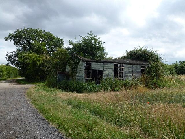 Dilapidated hut near Woodwalton Fen