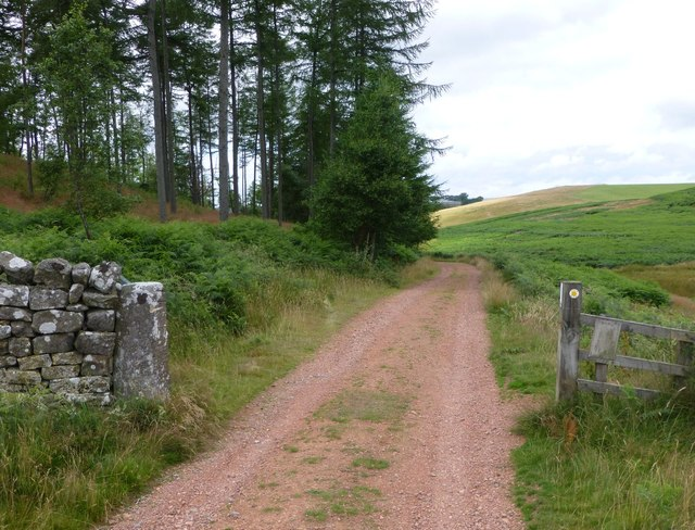 Gateway through an old dry stone wall