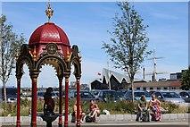 NS5565 : John Aitken Memorial Drinking Fountain, Govan by Leslie Barrie