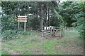 SK8367 : Path into Spalford Warren Nature Reserve by J.Hannan-Briggs