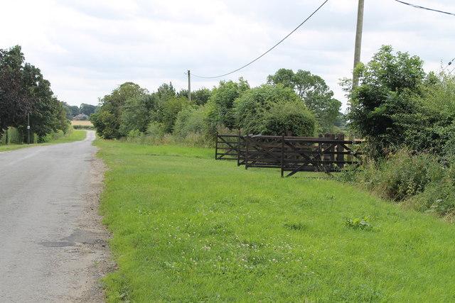 A double field entrance on Torrington Lane