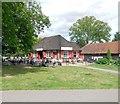 TQ2874 : Café near Clapham Common Bandstand by Paul Gillett