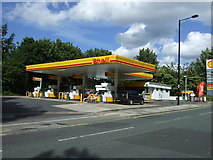 NZ2568 : Service station on Benton Park Road by JThomas