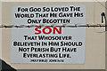 J2764 : Biblical message, Lisburn by Albert Bridge