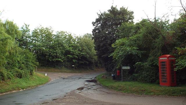 Road junction, Furneux Pelham