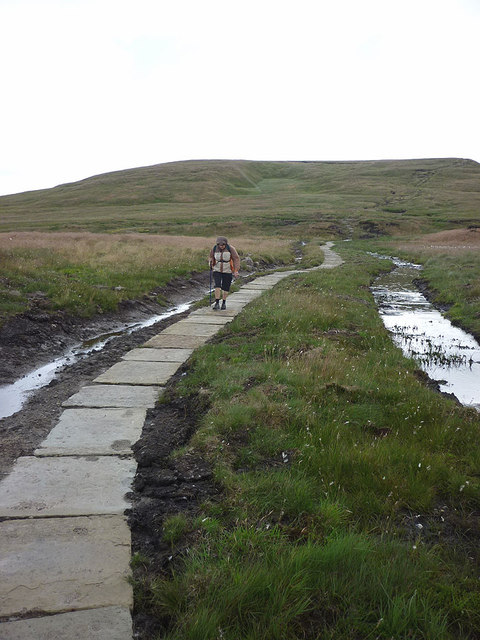 Repaired path, Hearne Head on Great Shunner Fell