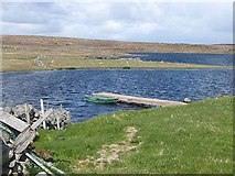 HU5764 : Southern end of Isbister Loch by Oliver Dixon