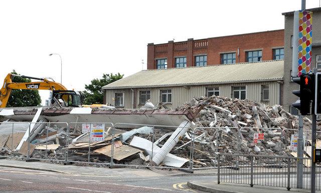 York Street demolition work, Belfast (2013-9)