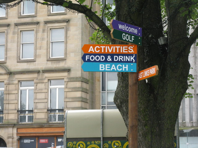 Sign post in St Andrew Square