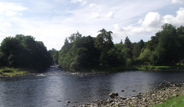 Confluence of the Water of Feugh and the River Dee