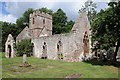 SO5028 : The ruins of old Llanwarne church by Philip Halling