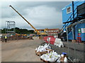 SO8754 : Worcestershire Royal Hospital - radiotherapy unit - the first steelwork by Chris Allen