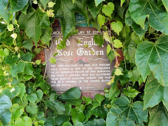 Old English Rose Garden, Appleby Plaque