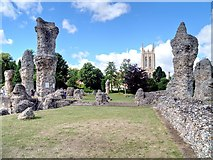 TL8564 : The Remains of St Edmund's Abbey by David Dixon
