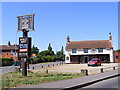 TM3390 : The Duke of York Public House & sign by Adrian Cable