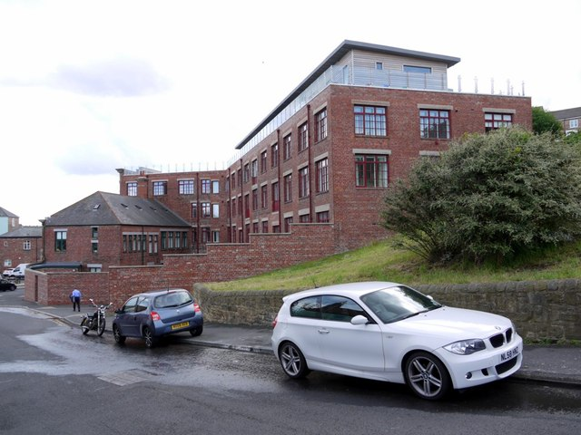 Rear of Irvins Building from Brewhouse Bank, North Shields