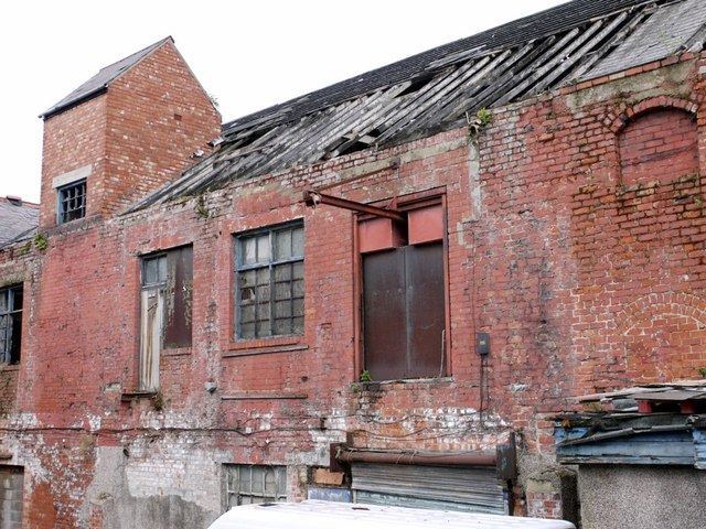 Derelict warehouse off Brewhouse Bank, North Shields