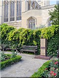 TL8564 : Bury St Edmunds Abbey Gardens, USAAF War Memorial by David Dixon