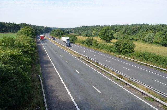 M50 motorway looking south west