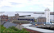 NZ3668 : North Shields Fish Quay & mouth of the Tyne, from Tyne Street by Andrew Curtis