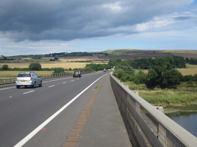 The A1 crossing the River Tweed
