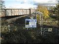 SK2701 : Network Rail access at Sandyways by Robin Stott