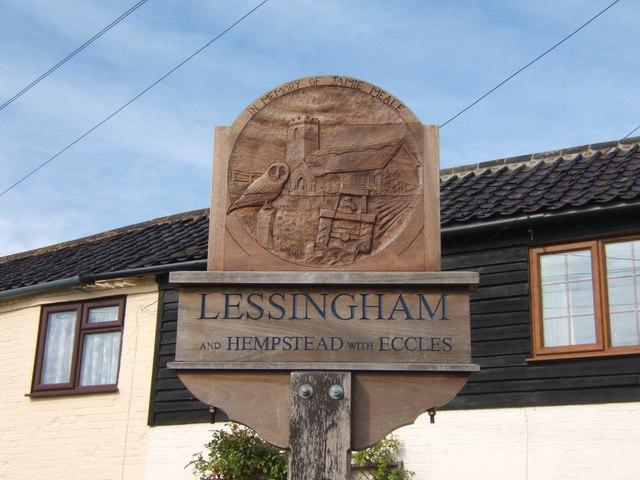 Lessingham village sign