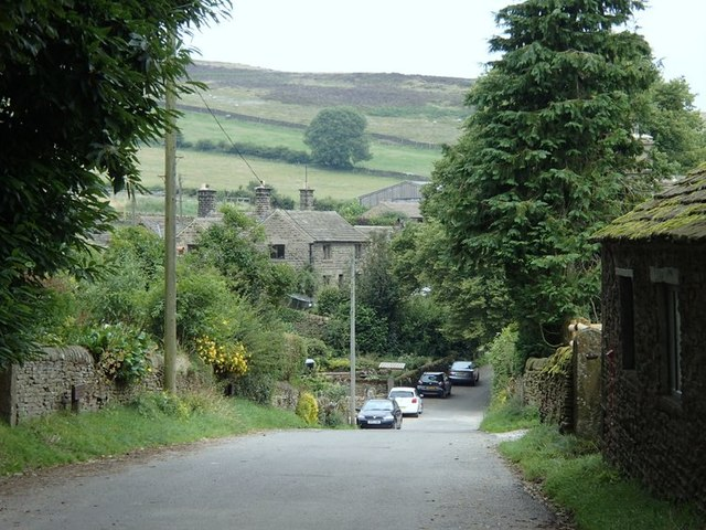 Lane through Abney village
