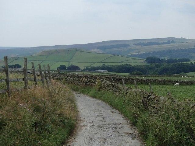Lane above Abney