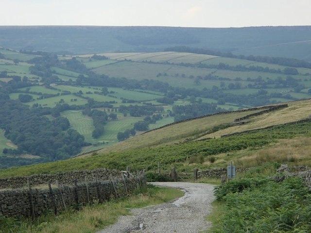 Track corner below Shatton Moor