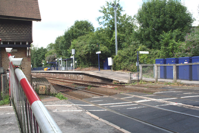 Betchworth station and level crossing