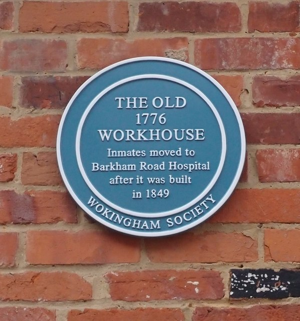 Wokingham Old Workhouse Blue Plaque