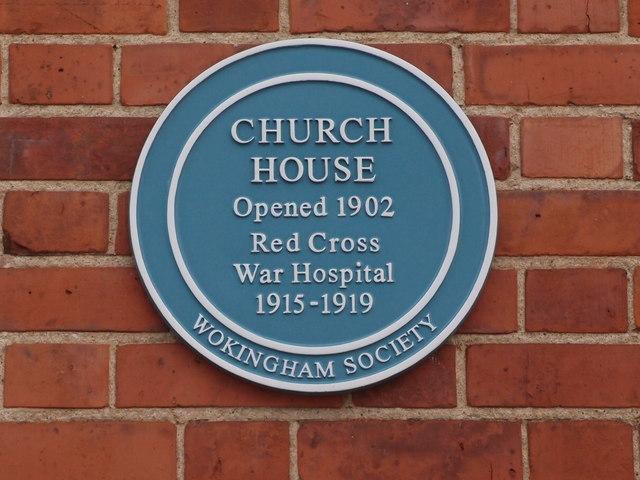 Wokingham Church House Blue Plaque