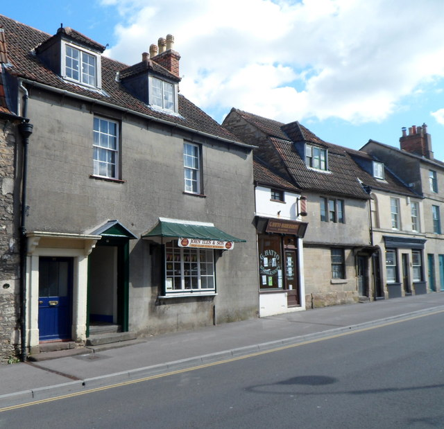 A butchers' shop and a barber shop, Chippenham