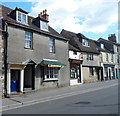 ST9272 : A butchers' shop and a barber shop, Chippenham by Jaggery