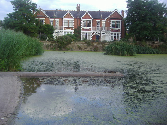 Houses by the pond, Kew Green