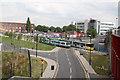 SJ8497 : Trams crossing Sheffield Street by Alan Murray-Rust