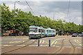 SJ7898 : Leaving Ladywell tram stop by Alan Murray-Rust